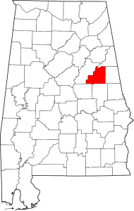 Clay County Alabama Map