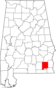 Map of Alabama Highlighting Dale County