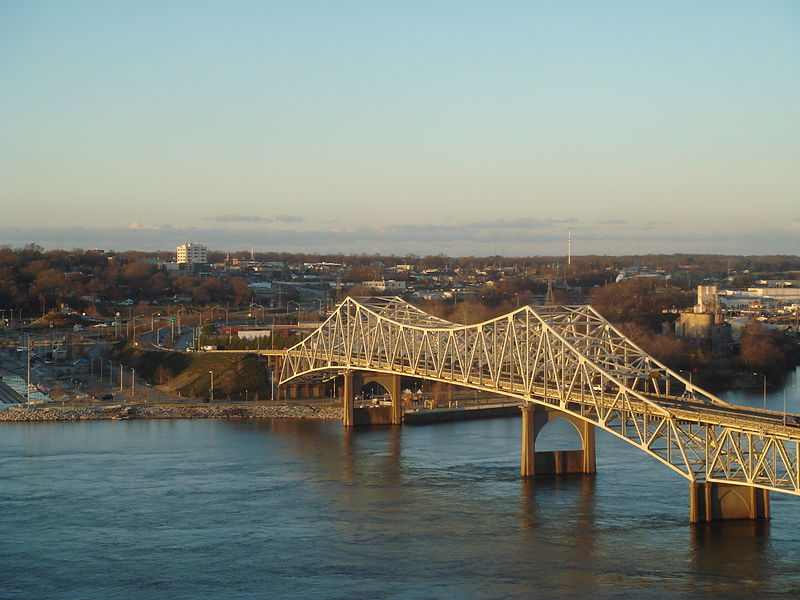 Tennessee River, Oneil Bridge and Downtown Florence by Tyler Ross