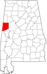 Pickens County Alabama Map