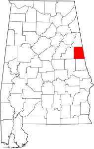 Randolph County Alabama Map