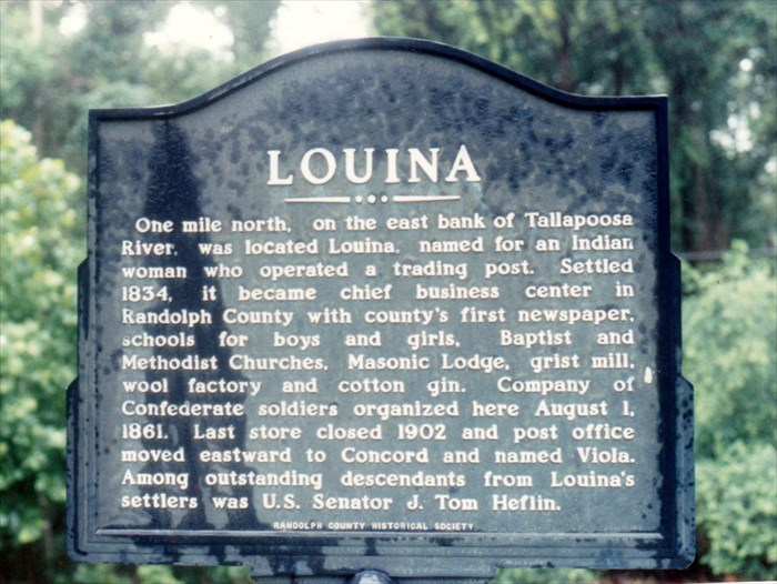 Louina Alabama Ghost Town in Randolph County Alabama