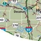 Alabama Map: Lamar County Alabama Map