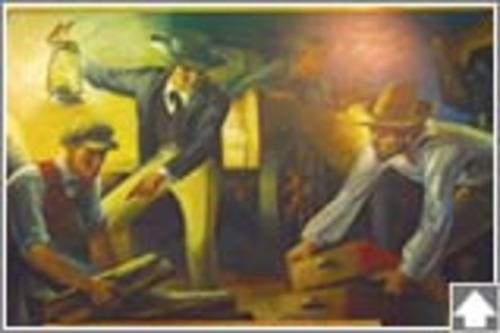 Bay-Minette-Post-Office-Mural: Removal of the County Seat