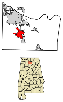 Hartselle Alabama Map