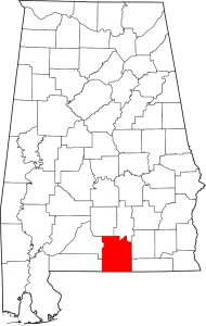 Covington County Alabama Map