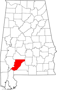 Monroe County Alabama Map