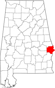 Russell County Alabama Map