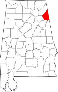 Cherokee County Alabama Map
