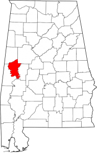 Greene County Alabama Map