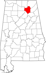 Marshall County Alabama Map