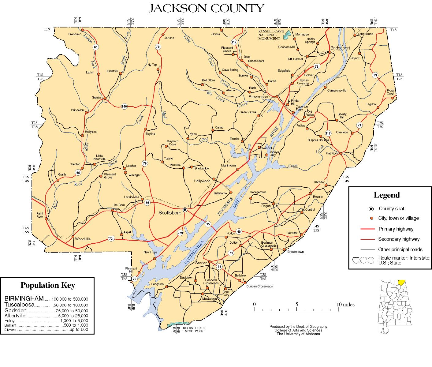 Jackson County Alabama Map