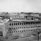 Fort Morgan, Mobile Point, Alabama, 1864, showing damage to the south side of the fort.