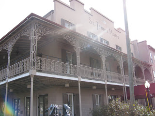 St James Hotel Ghost: The painting of Jesse James' mistress seemed to follow us with her eyes as we entered.