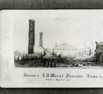 Ruins of the Selma Ordnance and Naval Foundry, which Union troops destroyed by fire on April 4, 1865.