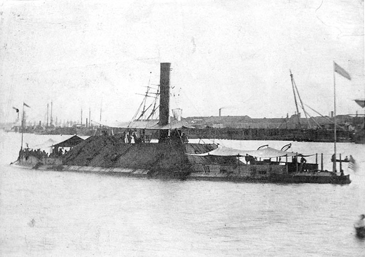 USS Tennessee in 1865 after her capture at the Battle of Mobile Bay