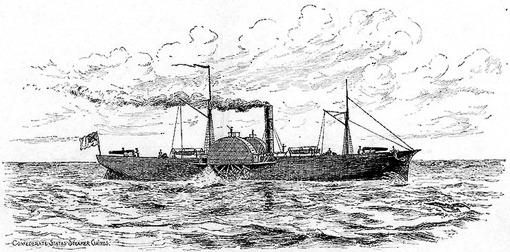 CSS Gaines was a wooden side wheel gunboat constructed by the Confederates at Mobile, Alabama during 1861-62. The ship was hastily built with unseasoned wood, which was partially covered with 2-inch iron plating.