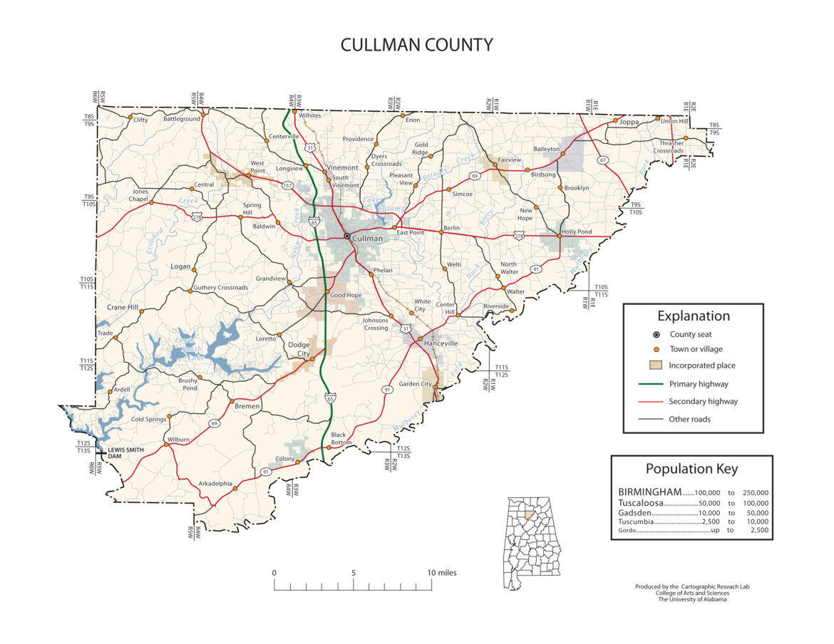 Cullman County Alabama Map