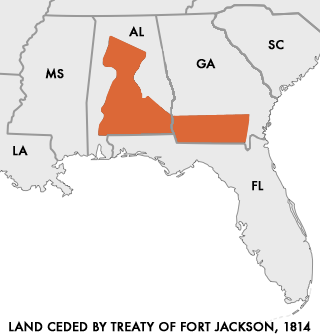 Land Ceded by Treat of Fort Jackson, 1814