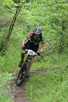 Cross-Country Rider on Single Track