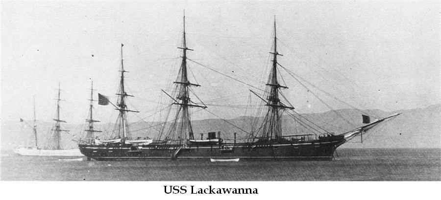 USS Llackawanna 1880 | The new screw sloop-of-war departed New York on 20 January, to join the Union blockade of the southern coast. She reported to the West Gulf Blockading Squadron at Pensacola, Florida early in February and, for the remainder of the war, served along the gulf coast of the Confederacy, principally off Mobile Bay.