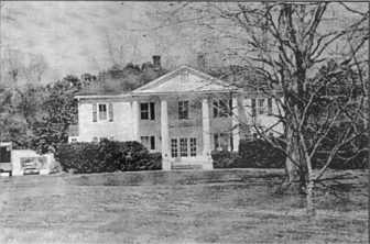 Current facade of Cherokee Plantation, view west.