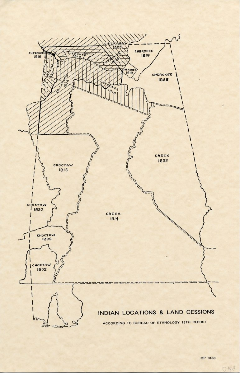 Alabama Indian Locations & Land Cessions 1899-