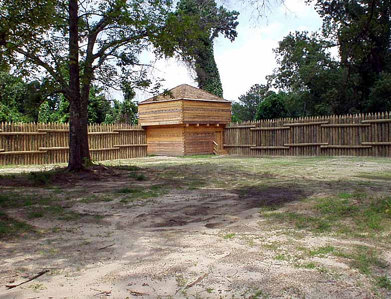 Reconstructed Stockade of Fort Mitchell