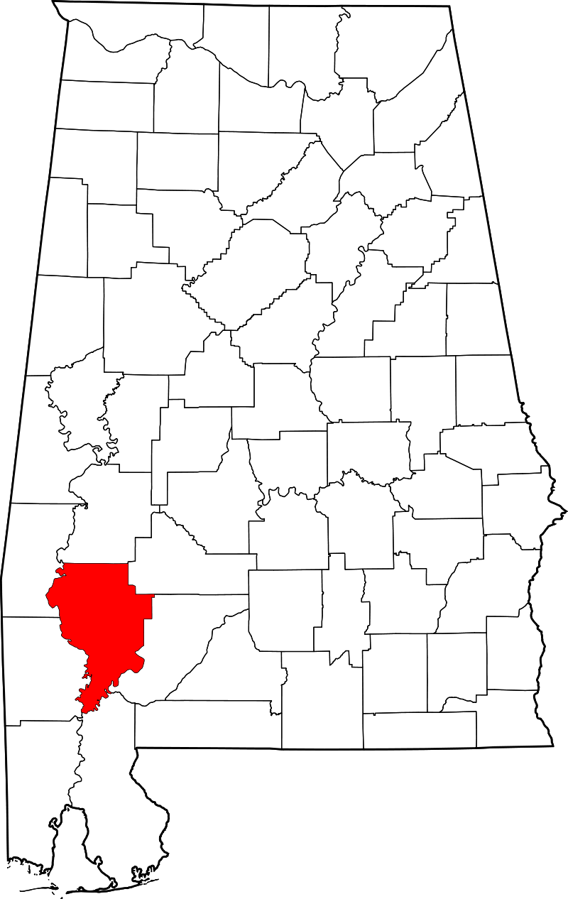 Clarke County Alabama Map