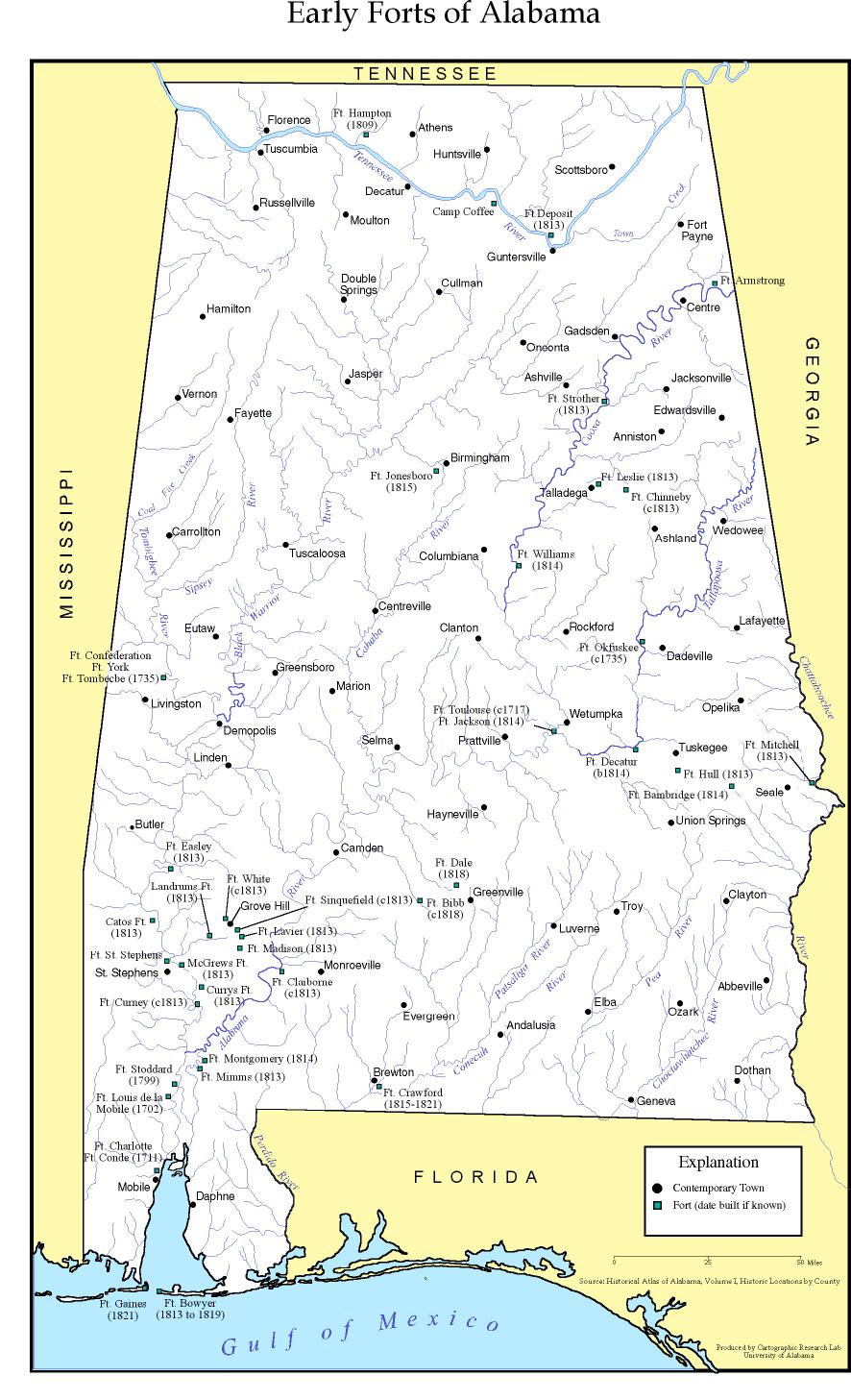 Early Forts of Alabama