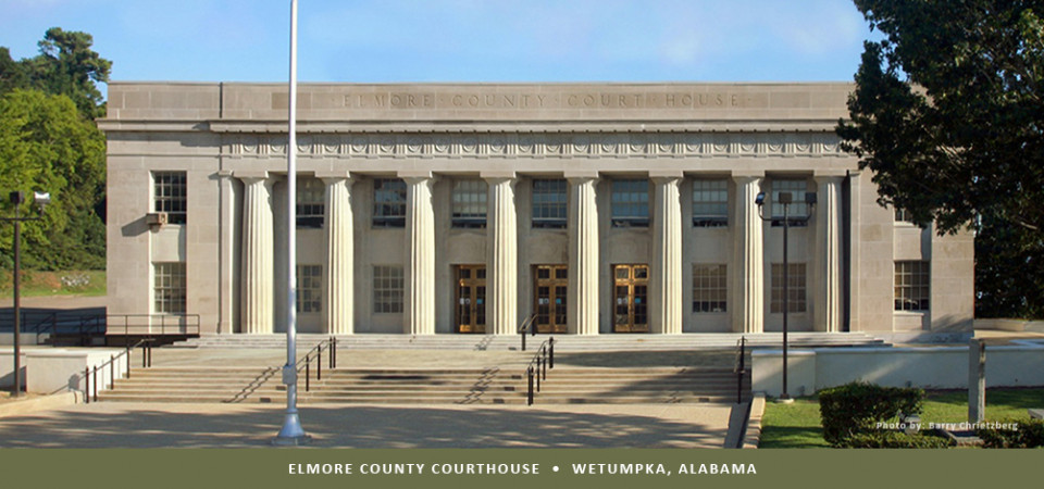 Elmore County Courthouse in Wetumpka Alabama