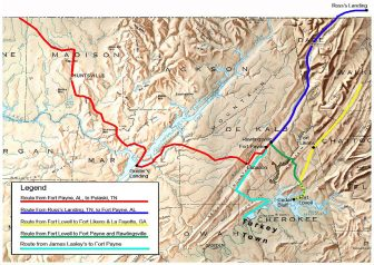 Trail Of Tears Route from James Lasley's to Fort Payne