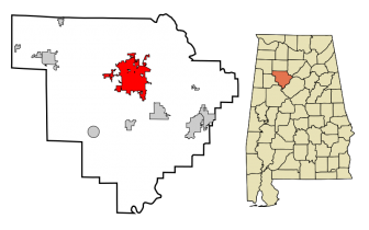 Jasper Alabama | Location in Walker County and the state of Alabama