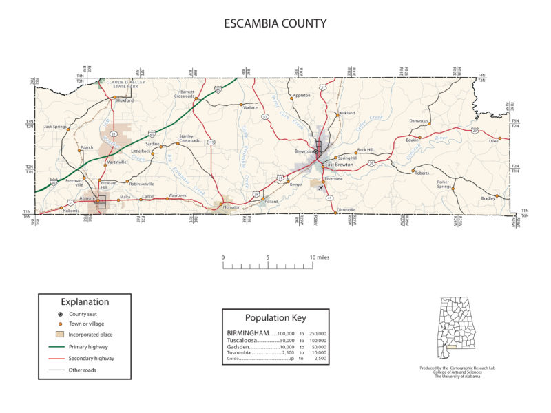 Escambia County Alabama Map