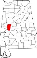 Location Of Hale County Alabama