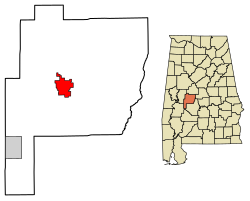 Location of Marion Alabama within Perrry County Alabama