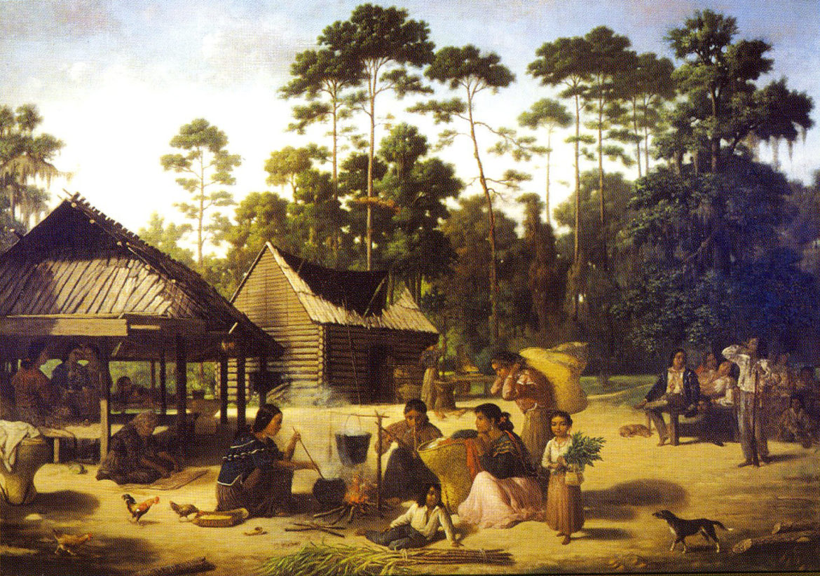 Choctaw_Village_by_Francois_Bernard