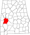 Location of Marengo_County within Alabama