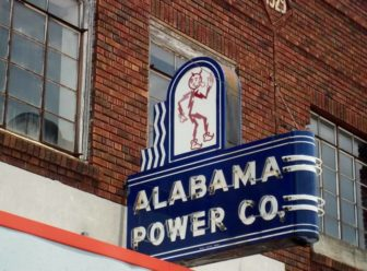 Neon Sign in Attalla Alabama. Alabama Power Co. Mascot: Reddy Kilowatt