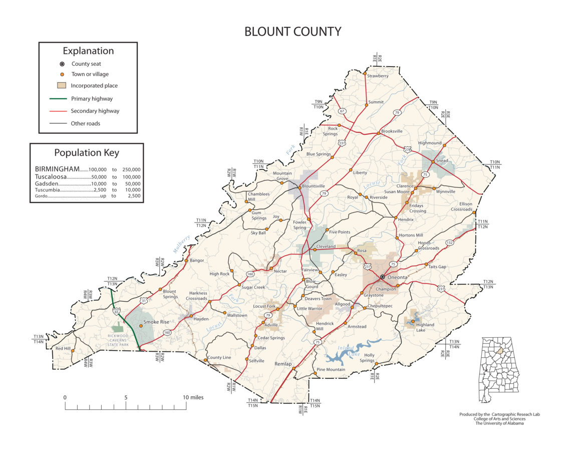 Blount County Alabama Map