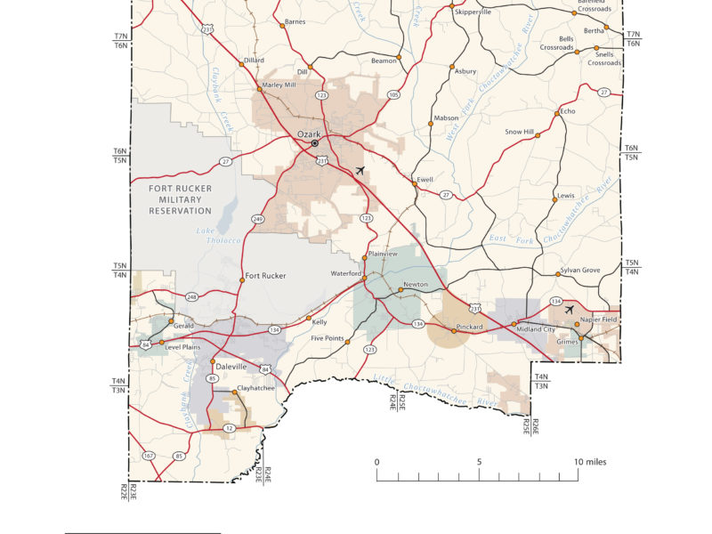 Dale County Alabama Map