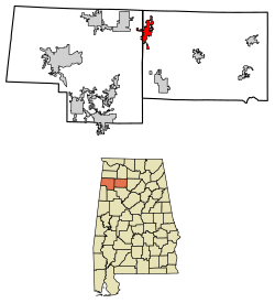 Haleyville Alabama Map