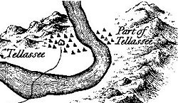 "Tallassee on Henry Timberlake's 1762 ""Draught of the Cherokee Country"""