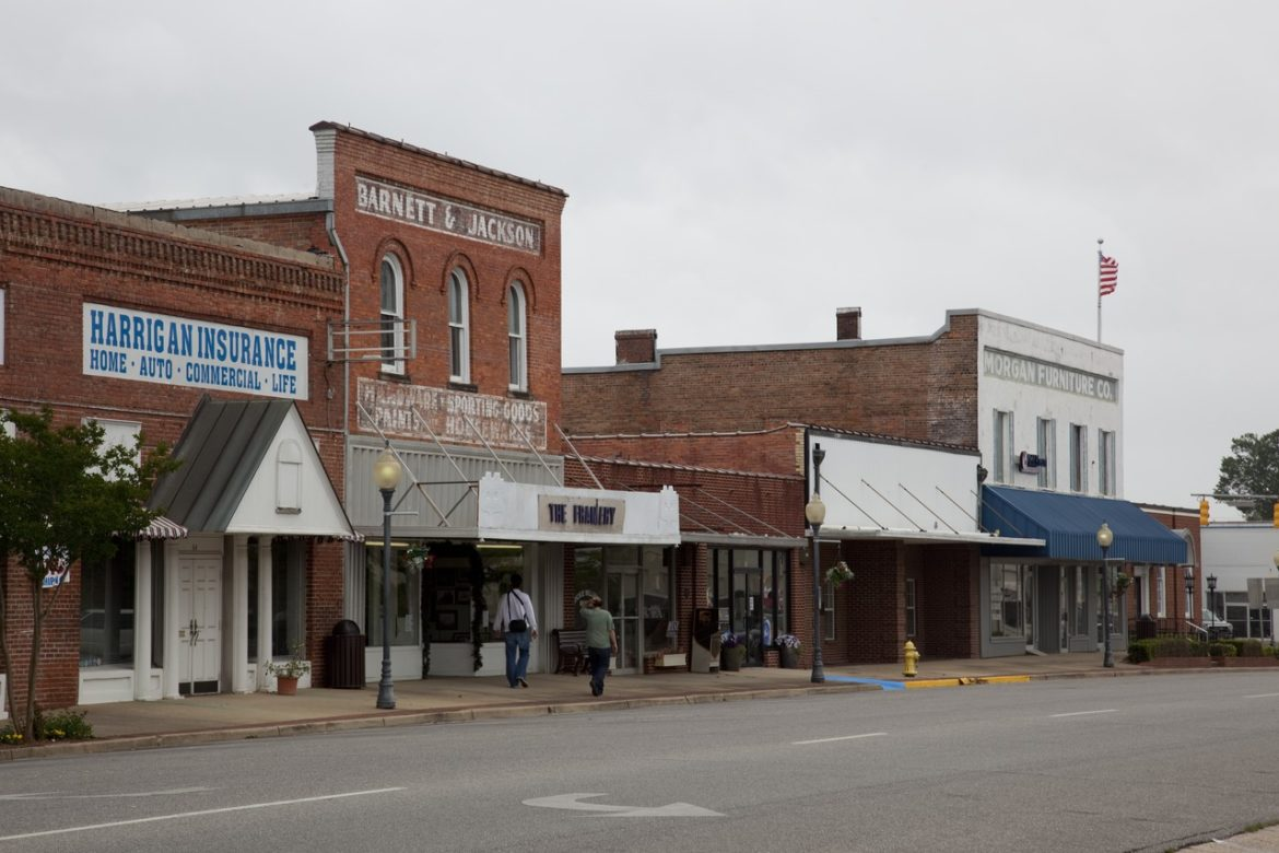 Historic Buildings In Downtown Monroeville Alabama