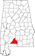 Location of Conecuh County Alabama