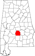 Lowndes County Alabama Map