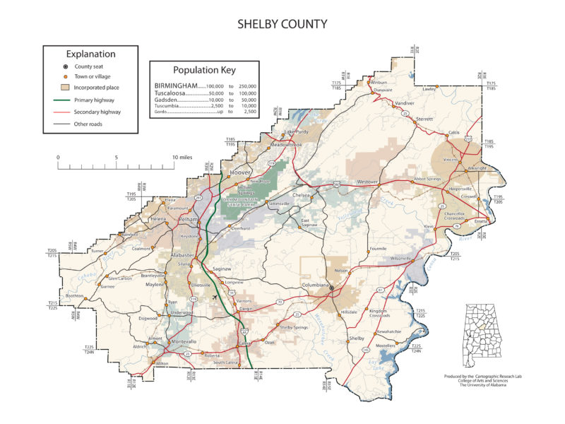 Shelby County Alabama Map