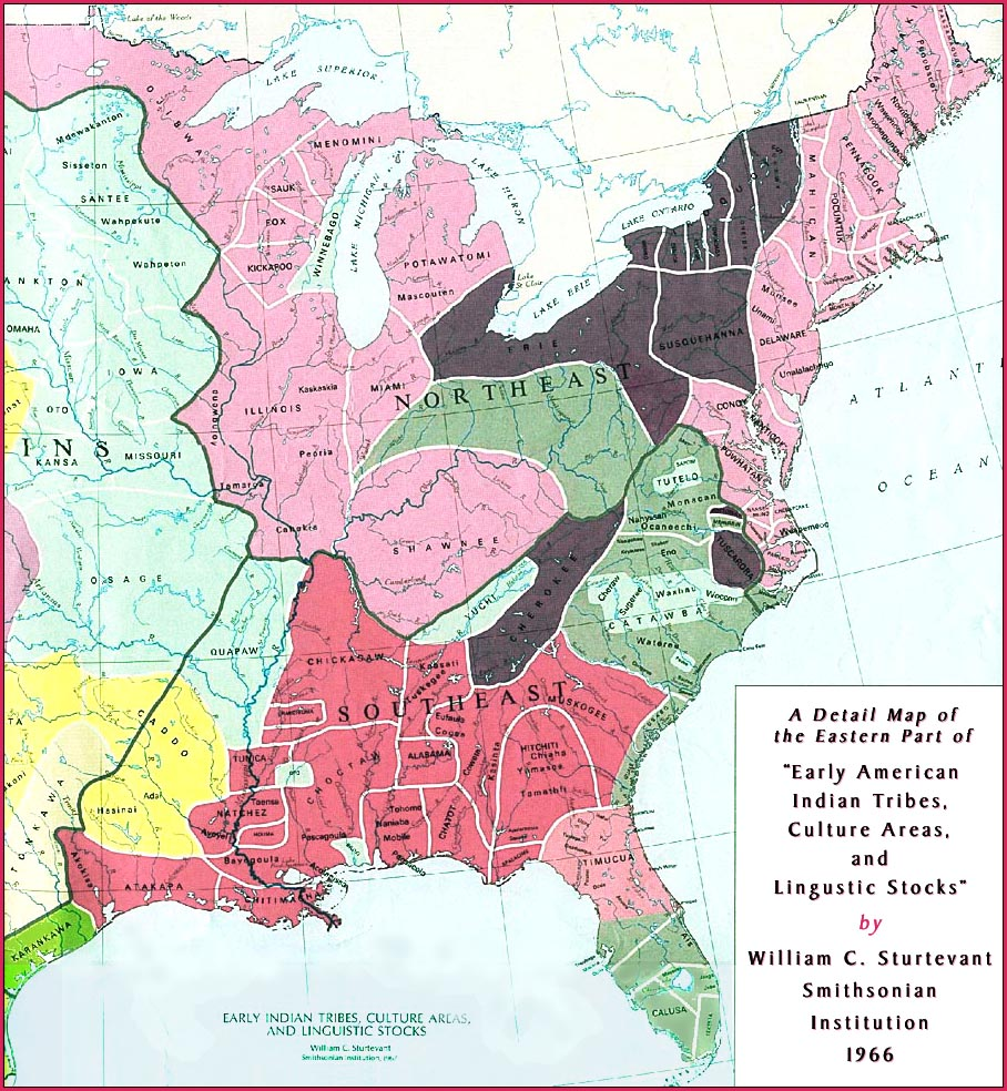 Early American Indian Tribes, Culture Areas, and Lingustic Stocks