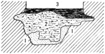 Fig. 30.—Cross section of Fort Deposit Cave at 47½ feet.