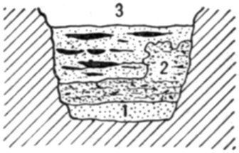 Fig. 32.—Cross section of Fort Deposit Cave at 70 feet.